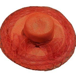 NWT Josette Red Floppy Dress Hat One Size